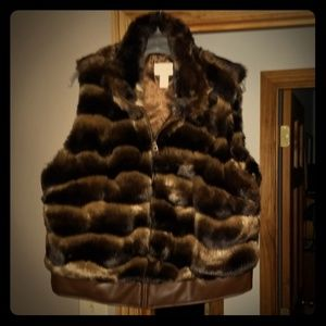 Chico's Faux Fur Vest